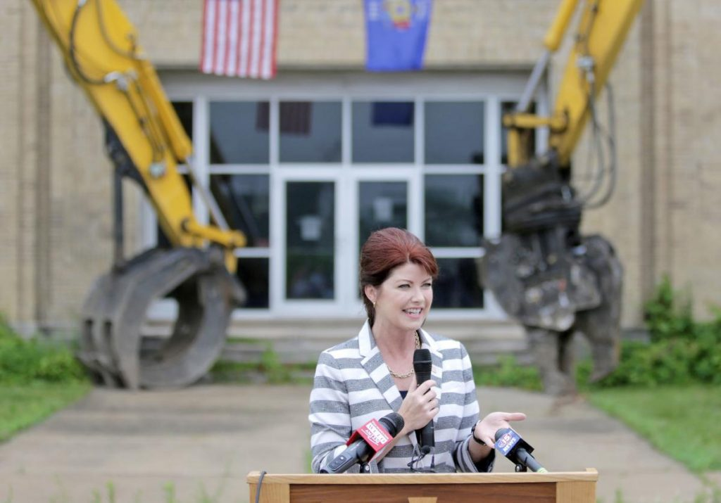 Lt. Gov Rebecca Kleefisch Visits CDC Demolition Site