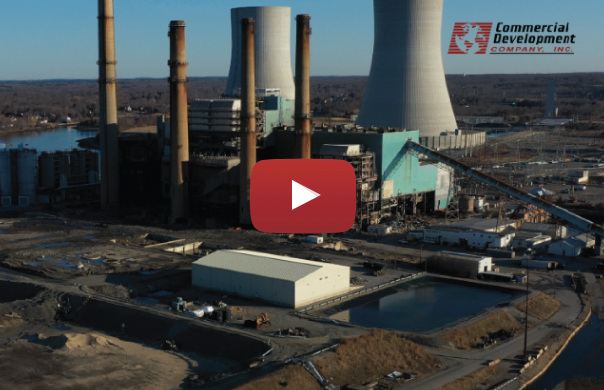 VIDEO: Demolition Continues with Felling of Power Plant Chimneys