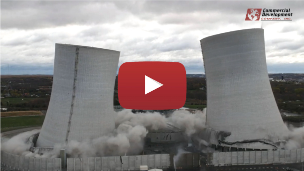 VIDEO: Implosion of 500-ft Cooling Towers at Brayton Point