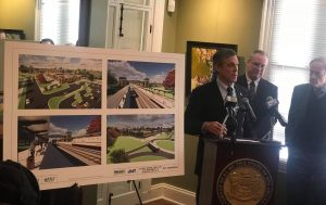 Delaware Governor Carney announces new transportation center at First State Crossing